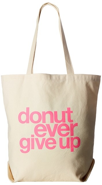 DOGEARED - DONUT EVER GIVE UP - TOTE TOTE HANDBAGS