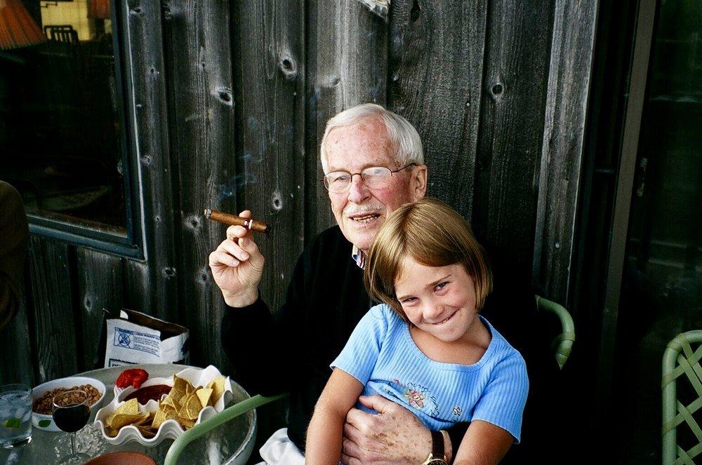 Brigid and Baba, our grandpa.