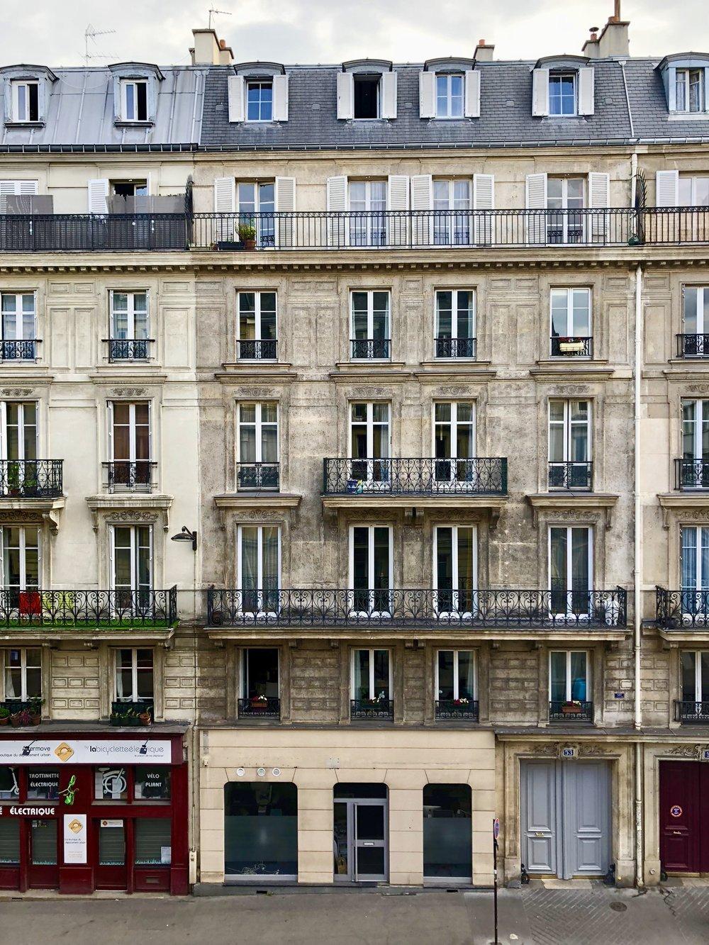 View Outside Our Paris Apartment