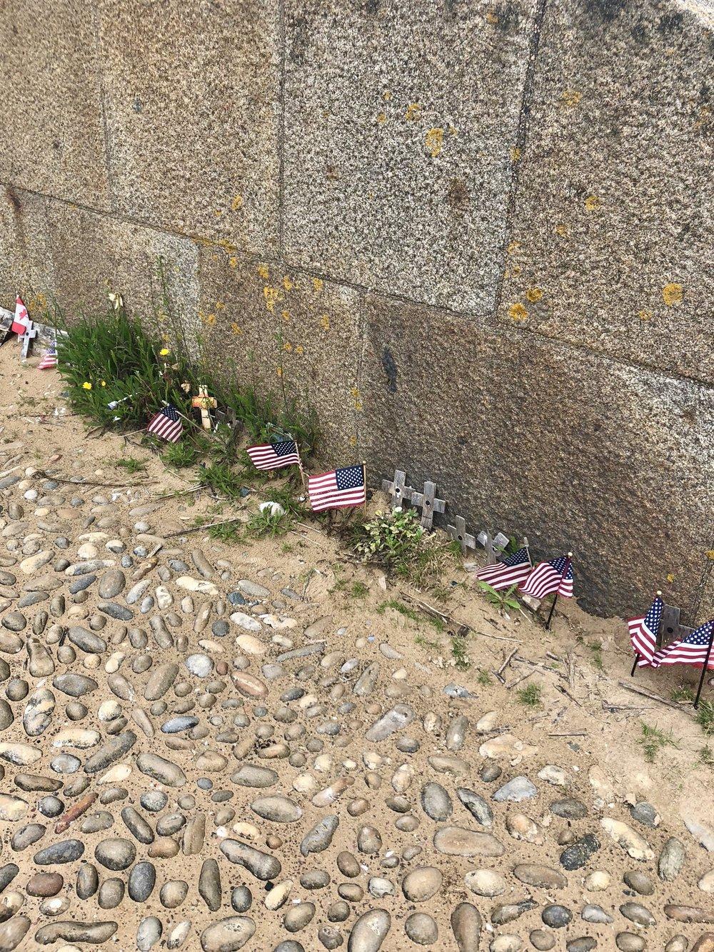 Memorials on Omaha Beach