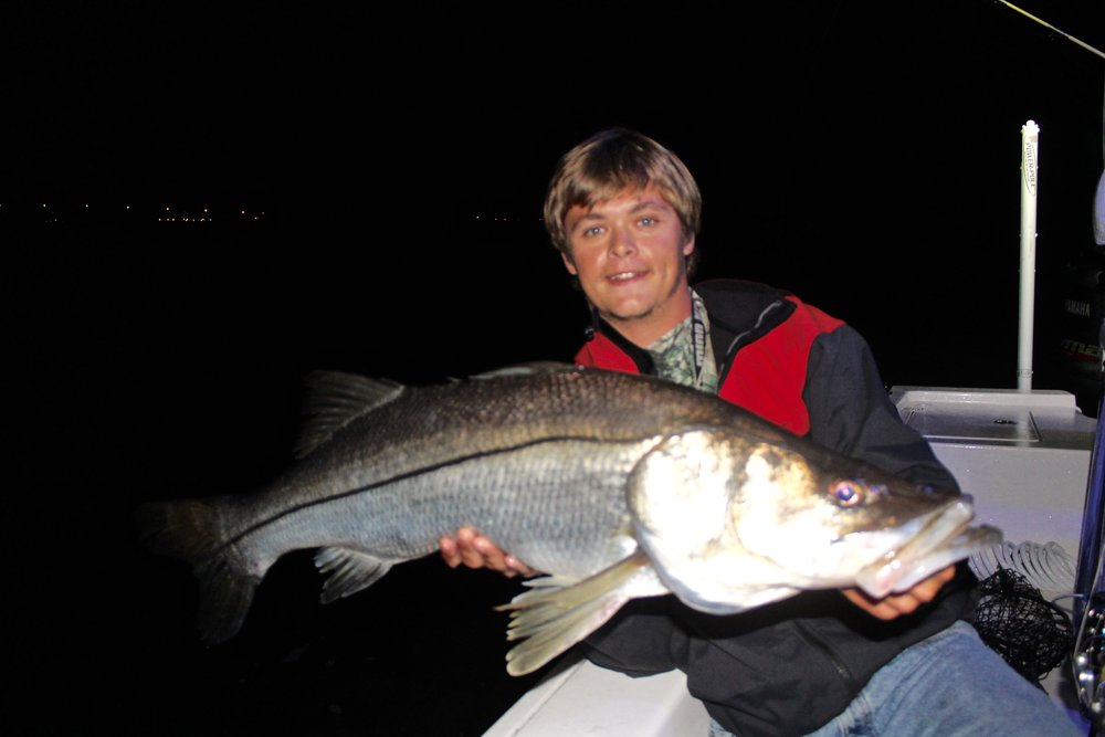 Monster Snook at Night