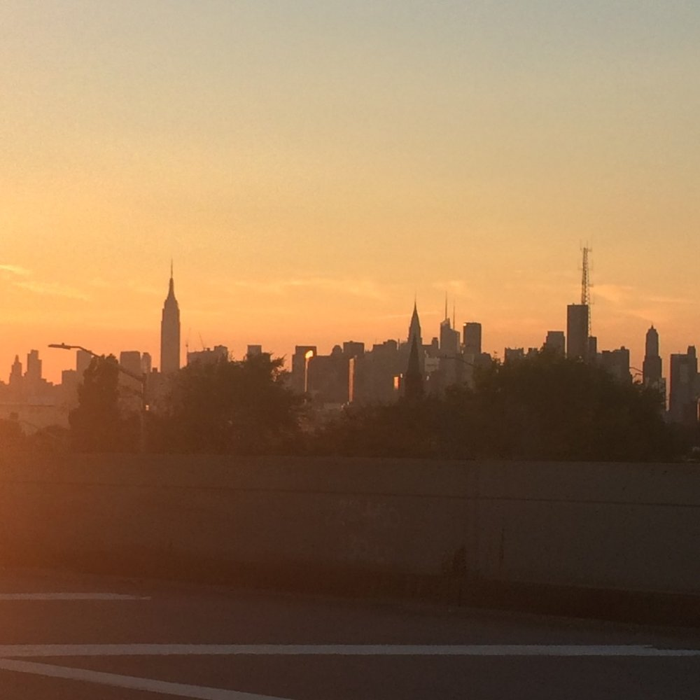 My view of Manhattan from my cab.