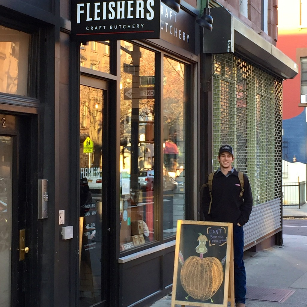 Me in front of Fleisher's Park Slope shop