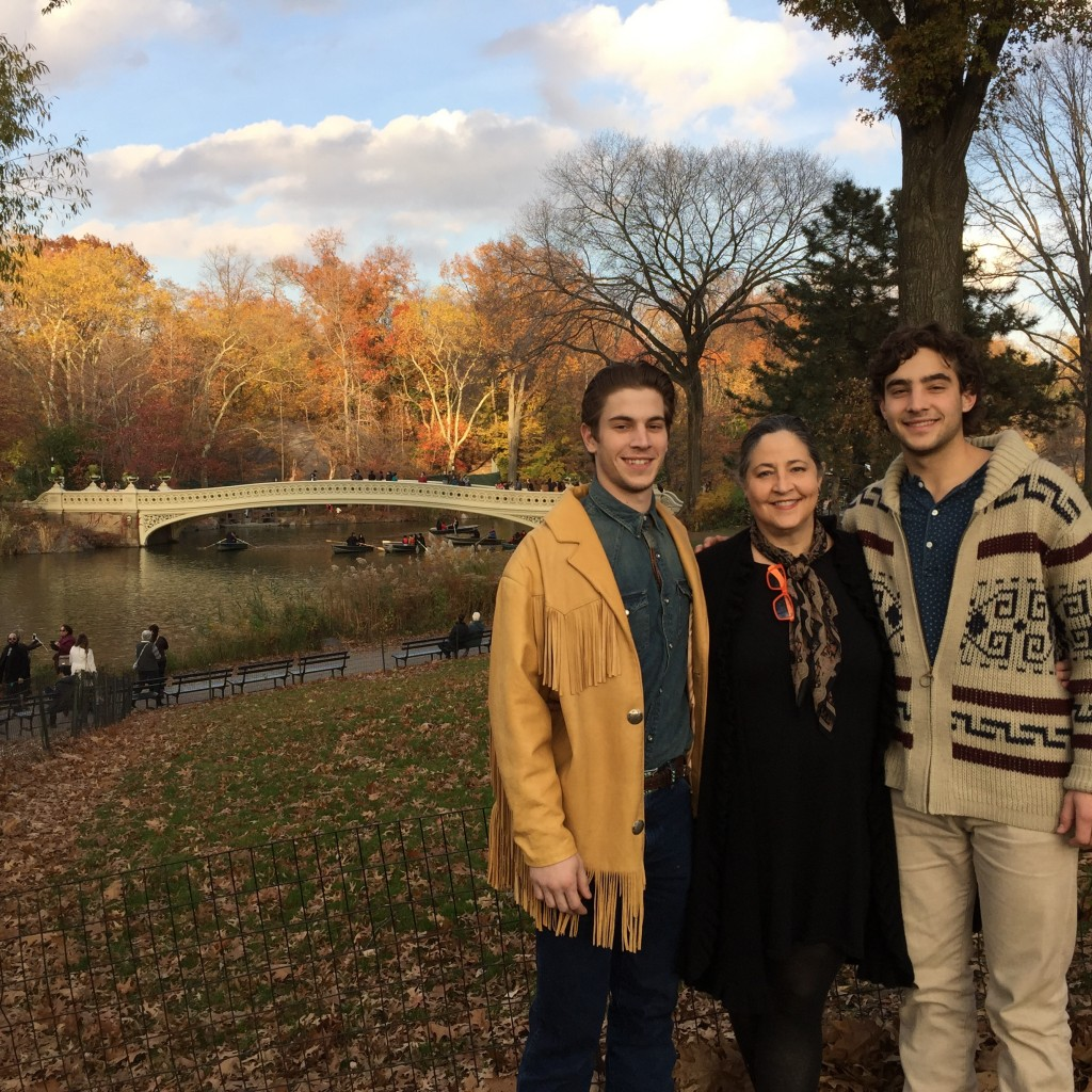 Thanksgiving Day in Central Park with my family