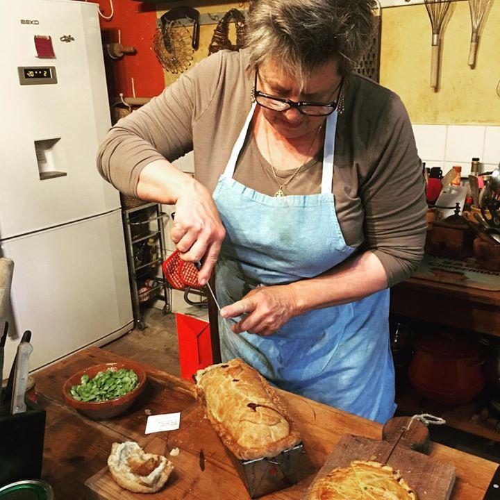 Kate Hill working on a pâté en croute.