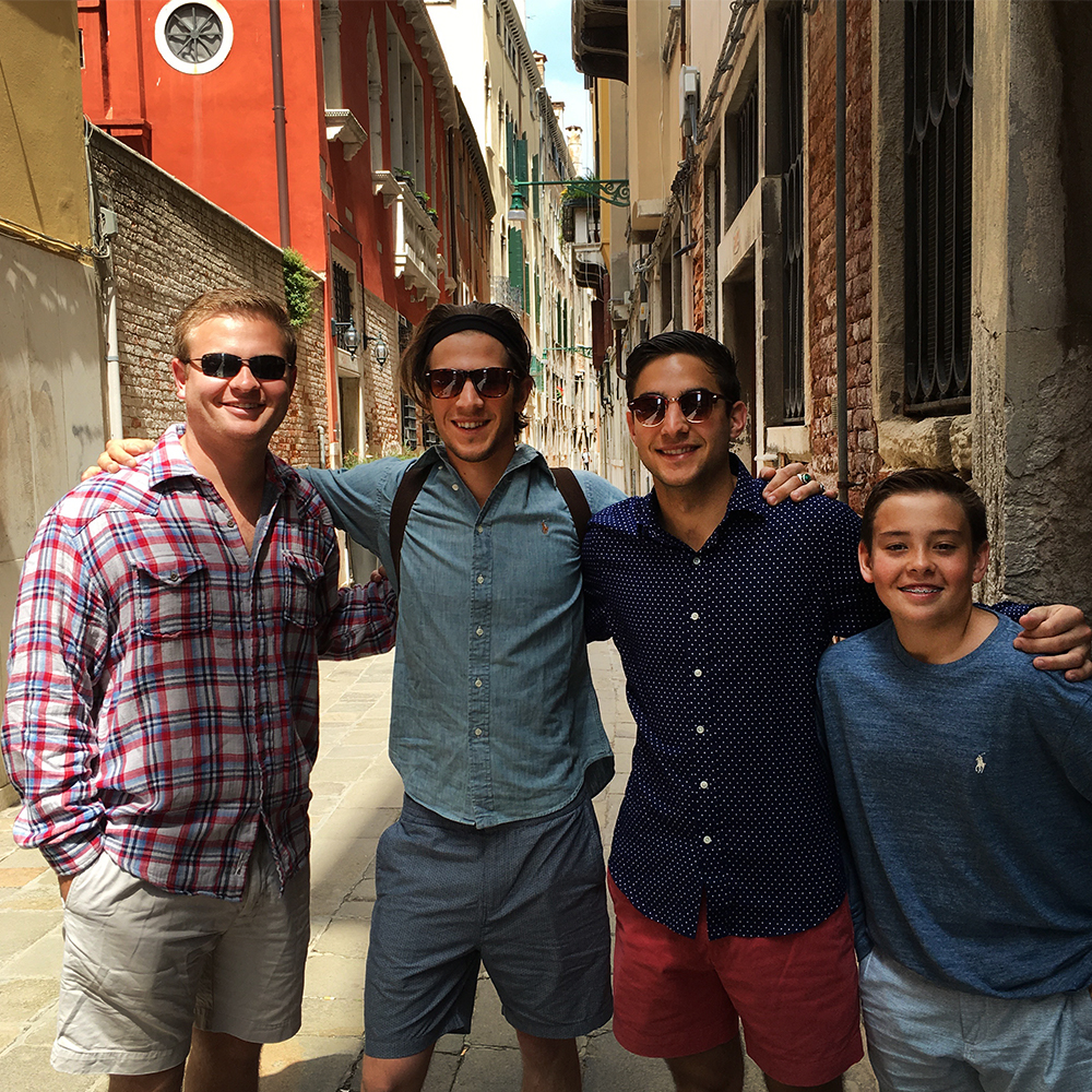 The cousins taking on Venice!
