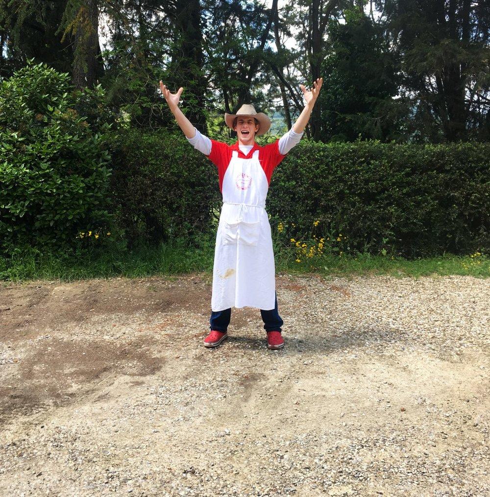 Practicing behind Officina Della Bistecca