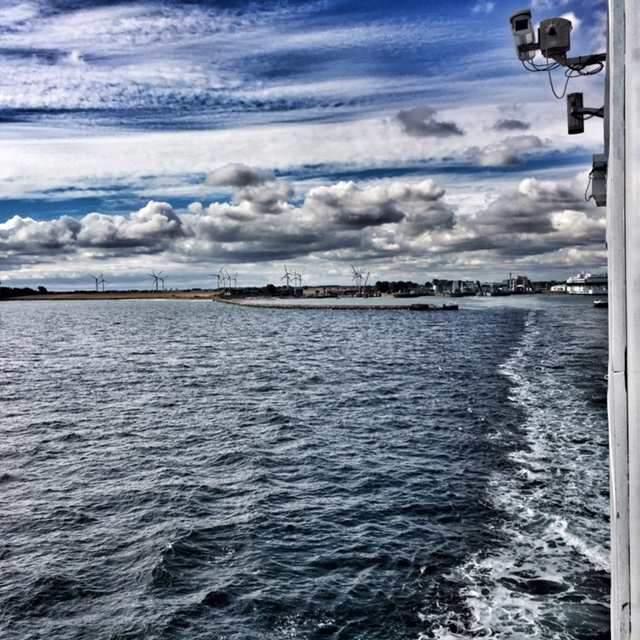 Leaving the German mainland and headed for Denmark!