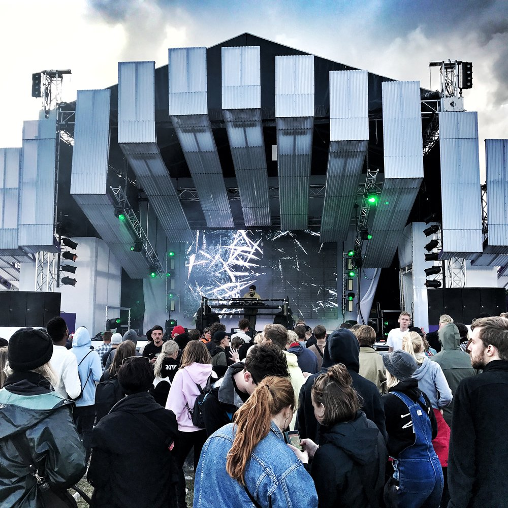 One of the smaller stages at Roskilde festival.
