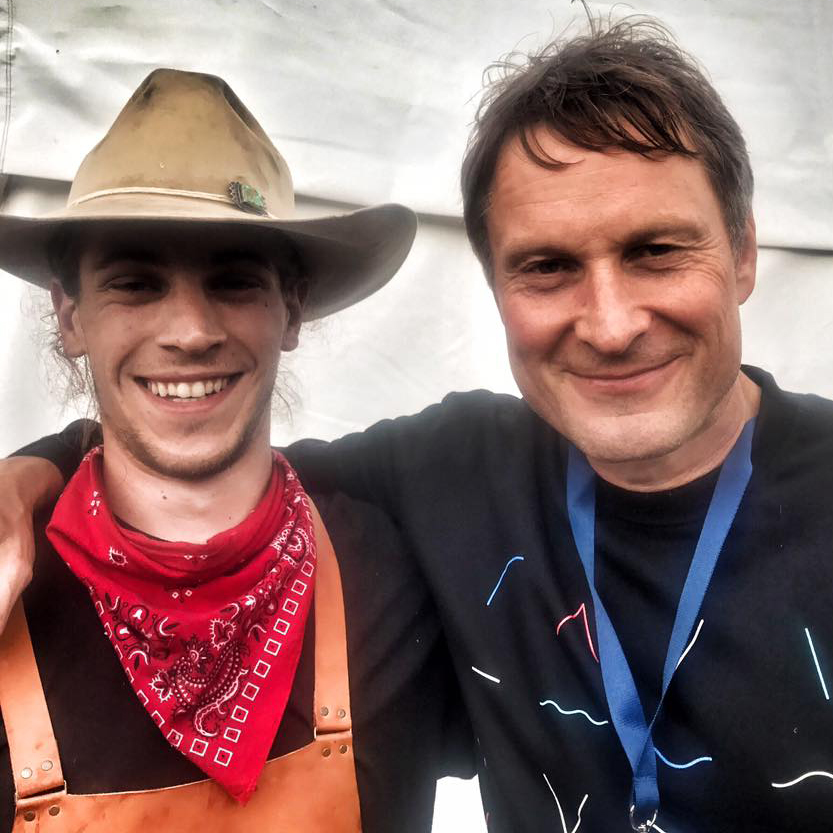 Claus Meyer stopped behind our tent for a quick burger - I had to grab a picture with him.