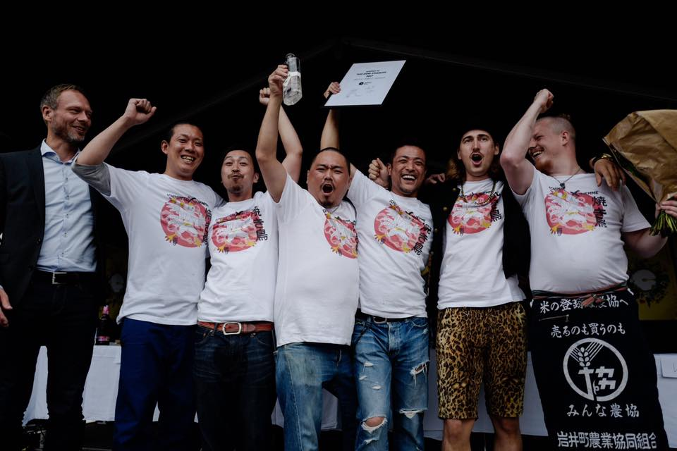 Team Japan taking the stage as the winning team of the Top Dog Charity contest - Congrats guys! Photo Credit: Copenhagen Food Festival.