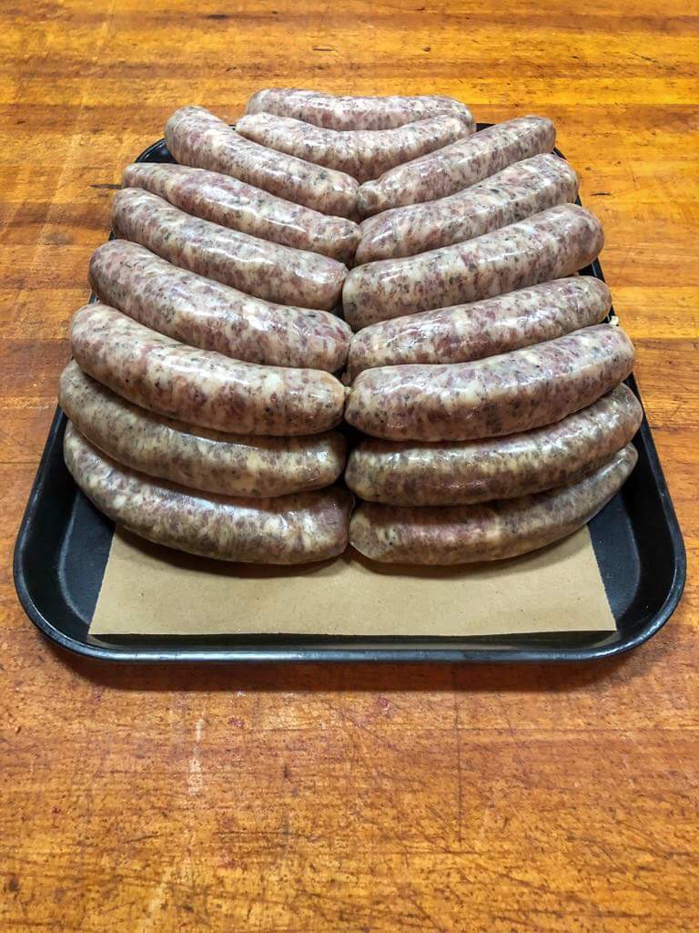 One of my morning tasks at Osso has been to restocking the sausage treys. Every shop displays their meat a little differently so I've tried to learn quickly - I still am having difficulties deciphering between the eight different sausages.