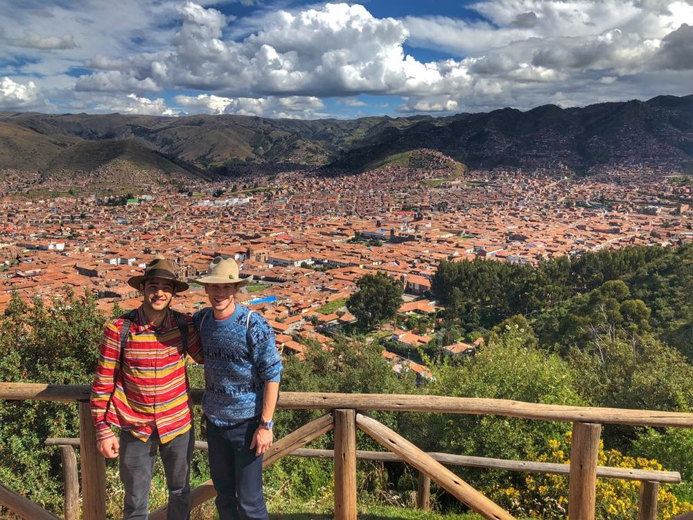 Sam and I overlooking the valley of Cusco.