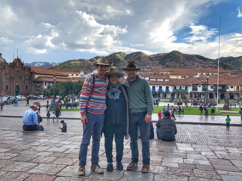 Photographical evidence that Mom made the trip. I had a blast with these two in Peru!