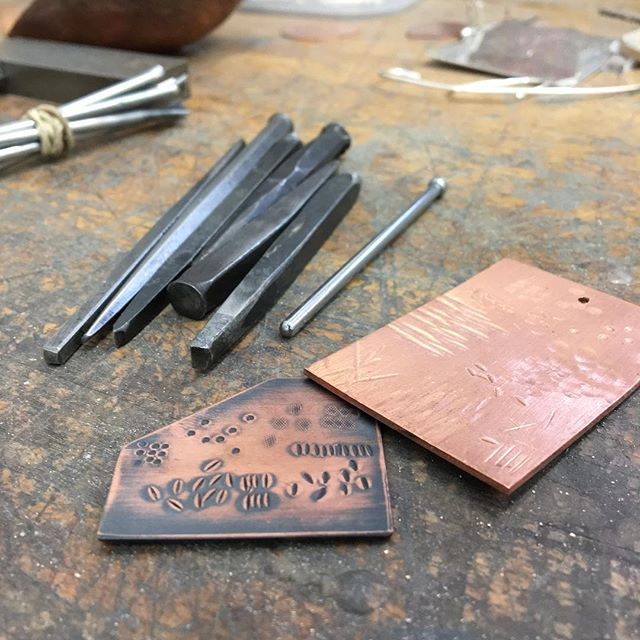 A few little tools we use for stamping, marking and texturing metal... oh the possibilities! 🔨