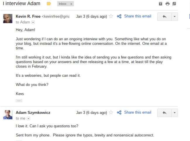 i interview adam szymkowicz give us free