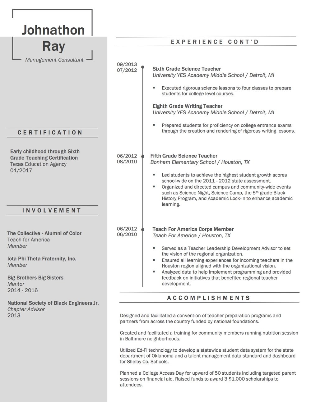 Client Resume #11 pg 2. Click to enlarge.