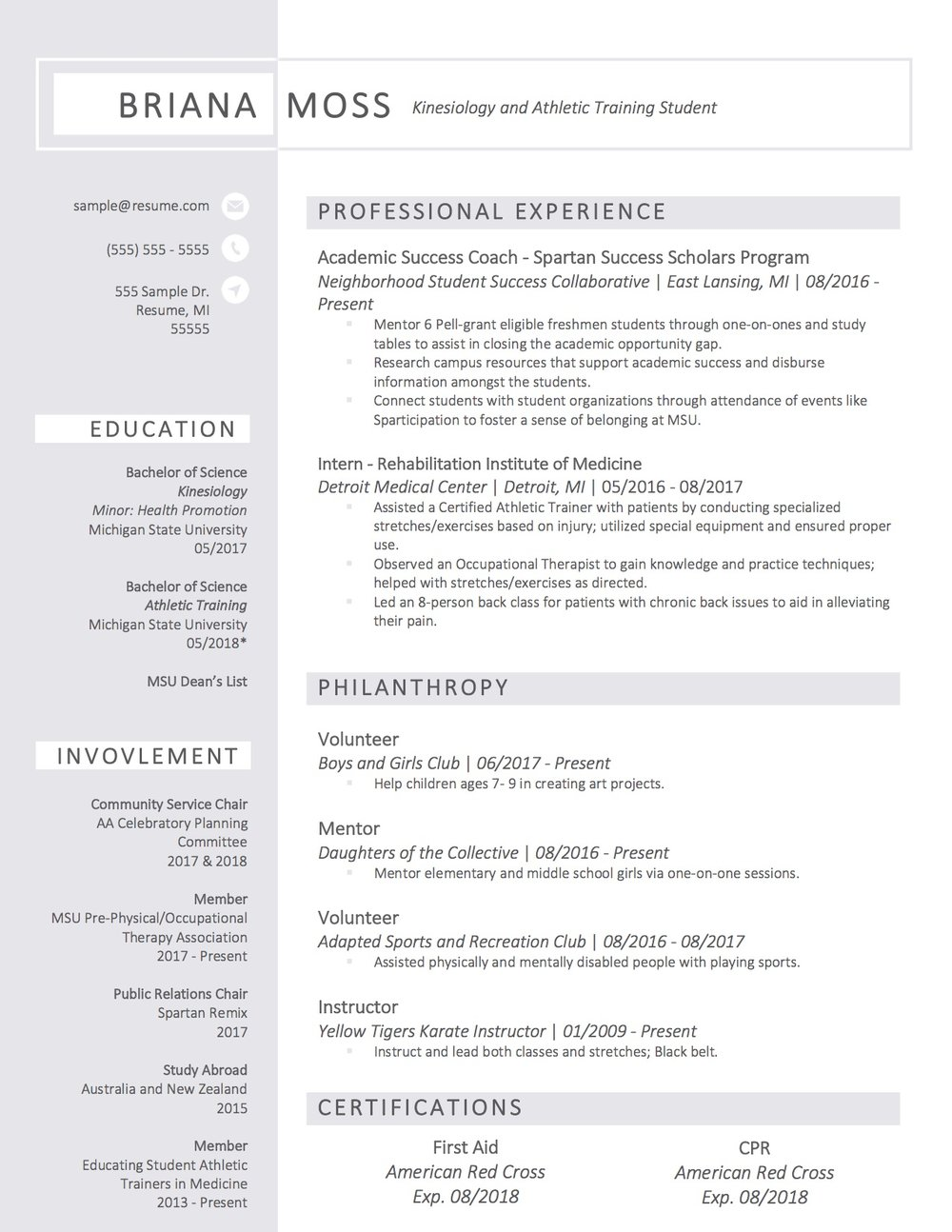 samples layfield resume consulting