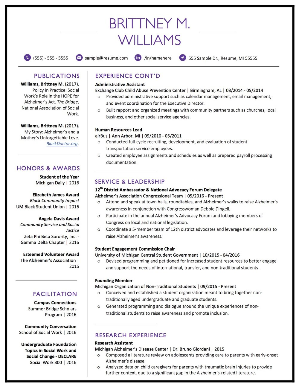 Client Resume #19 pg 2. Click to enlarge.