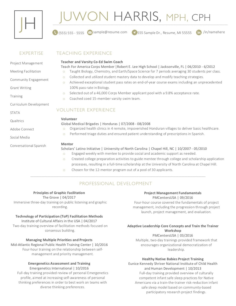 Client Resume #23 pg. 2. Click to enlarge.