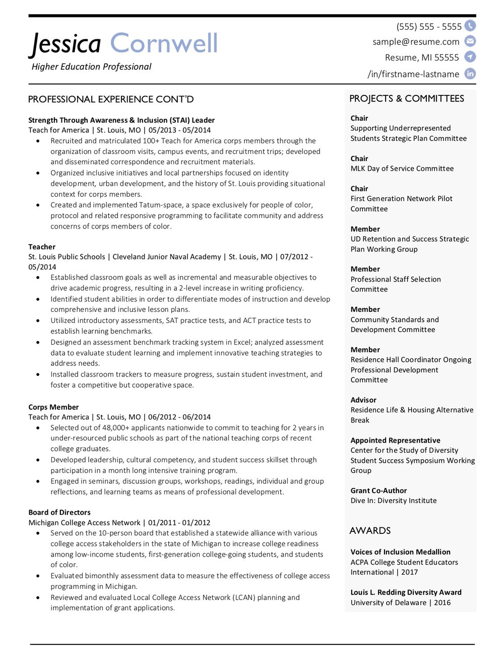 Client Resume #26 pg. 2. Click to enlarge.