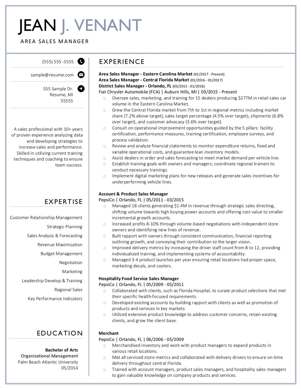 Client Resume #31. Click to Enlarge.