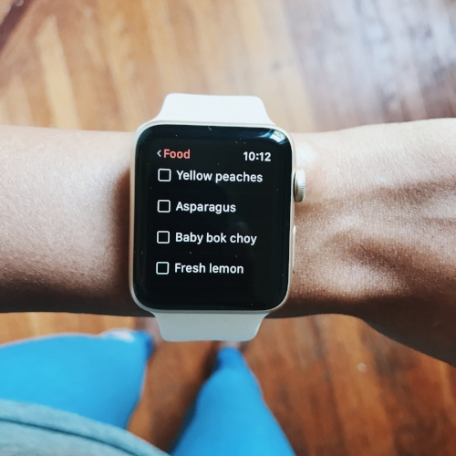 apple watch series 2 wunderlist app