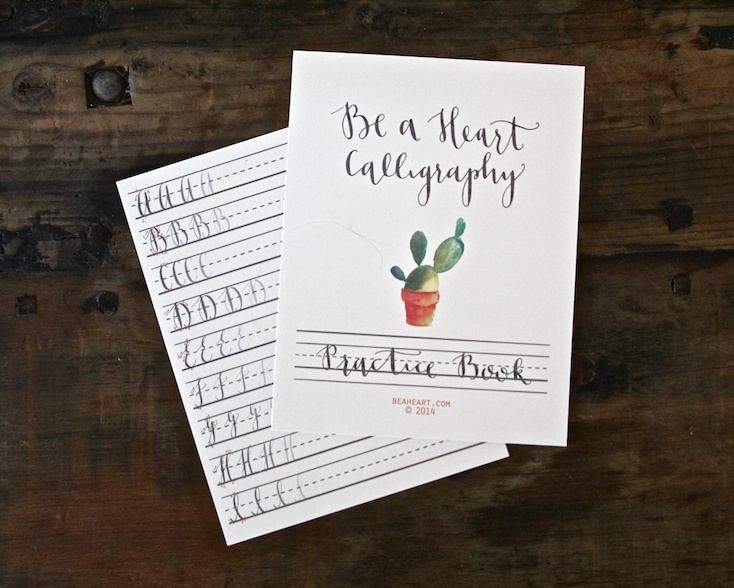 Be A Heart Calligraphy Workbook