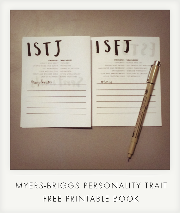 graphic relating to Myers Briggs Printable Test identified as myers-briggs Blog site Be A Centre