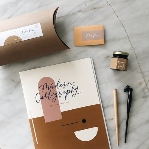 Doing calligraphy after a long day is one of my favorite ways to decompress. This  beginner modern calligraphy kit  is a perfect gift for anyone wanting to learn a new skill!