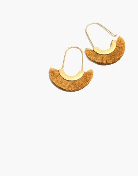 These  fluffy earrings  from Madewell are great for both casual looks AND holiday outfits!