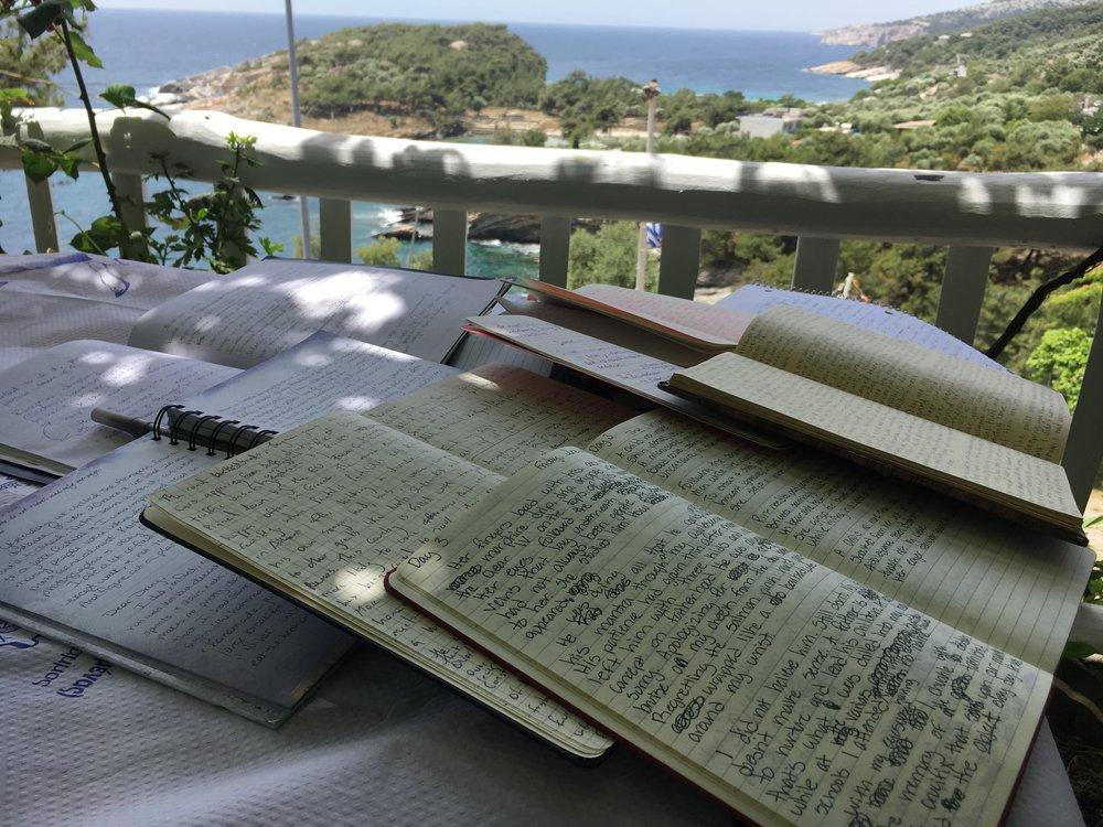 Writers' notebooks in Greece