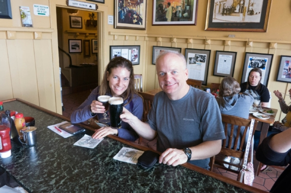 Me and Mark, cheers! (To be clear, he has a Guinness, not a pint of Irish coffee)