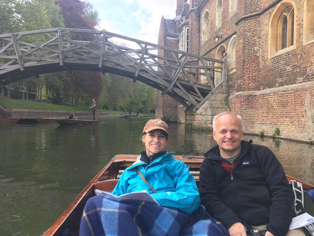 on the punting boat with an awesome guide