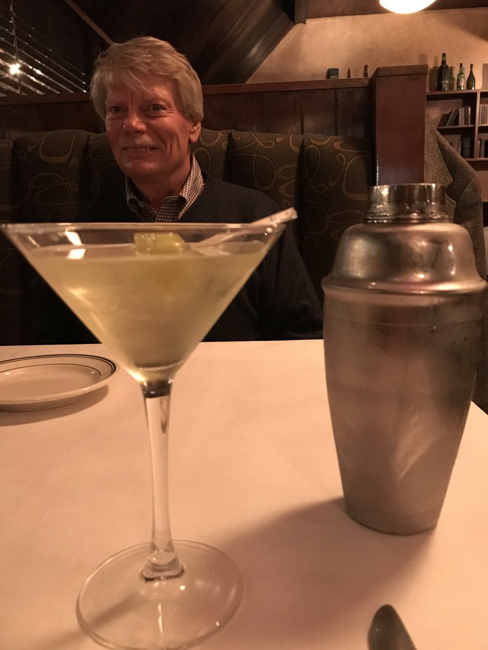 Better than James Bond: Charles Currier. And a Chili Peppa Martini.