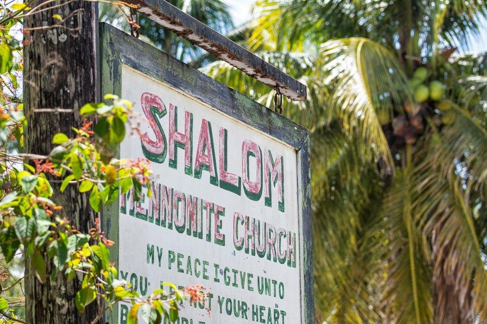 Shalom Mennonite Church sign