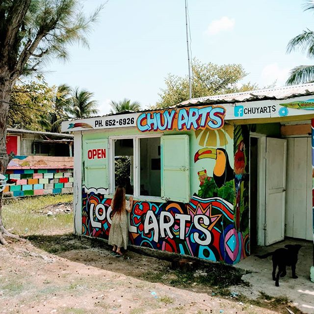 Coolest art shop #chuysart - - - - - #localartist #handpainted #getlost #explorer #worldshotz #discoverearth #travelphoto #travelworld #keepexploring #roamtheplanet #exploretheglobe #Belize #mybelize #explorebelize #stayandwander #keepitwild #earthofficial #nationalgeographic #travelstoke #wanderlust #three #negativespace #sarteneja