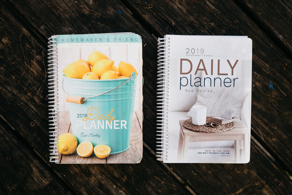 2018 & 2019 Planners side by side