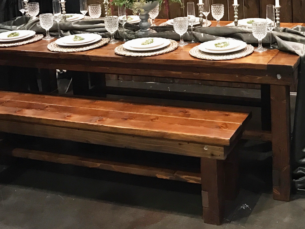 FARM TABLES Bu0026Bu0027s Pride And Joy Are Our Rustic Farm Tables ~ Perfect For  Weddings Or Any Large Gatherings. Seats 8 10 People Comfortably