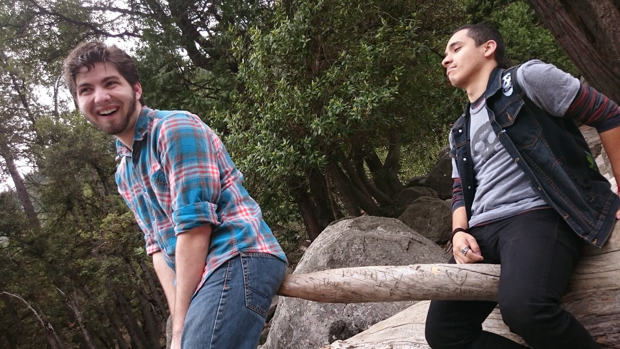Antonio Carrasco (right) during a recent trip to poundtown.