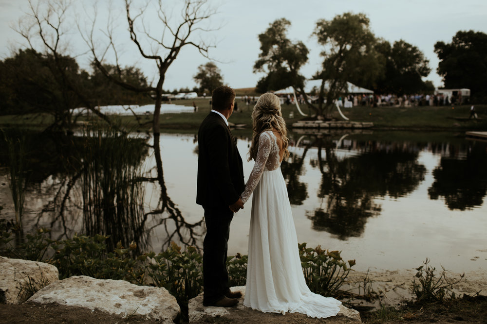Earthy Nebraska Wedding with a Rustic Flair Complete with a Firework Ending