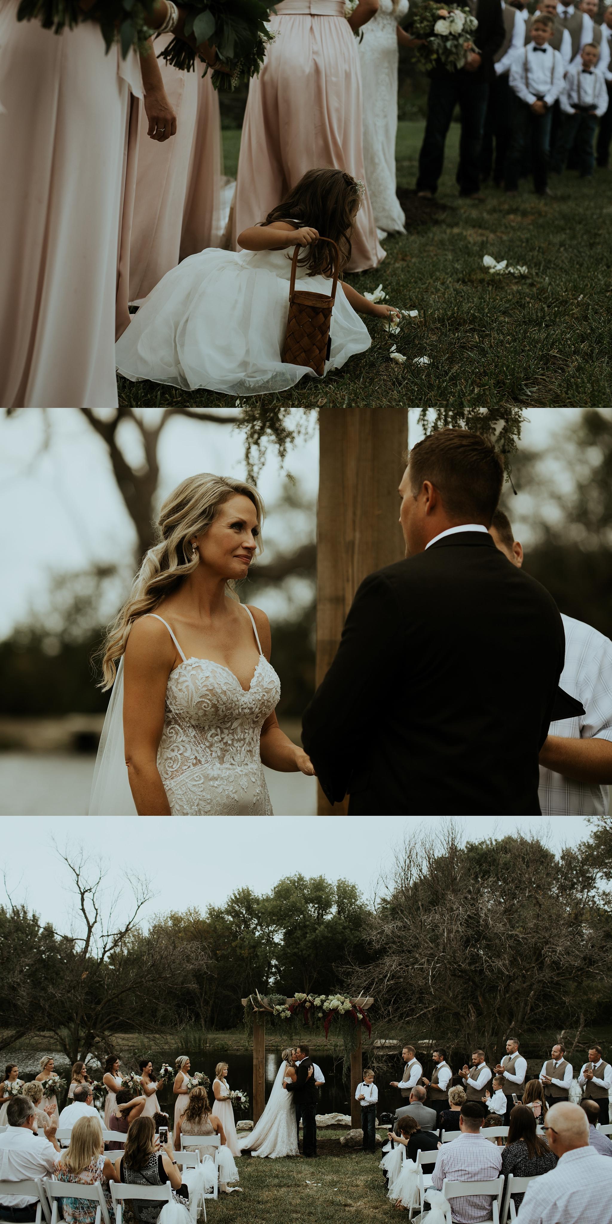 Earthy Outdoor Wedding Outside Lincoln Nebraska Complete With