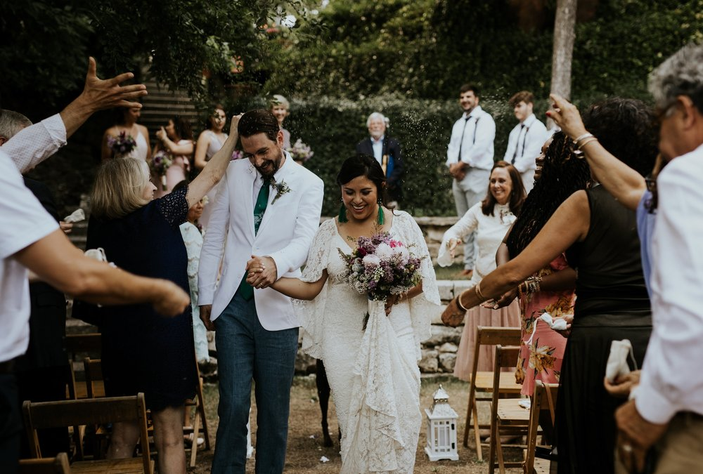 Vibrant Spring Wedding at the enchanting Jennifer's Gardens in Downtown Austin Texas