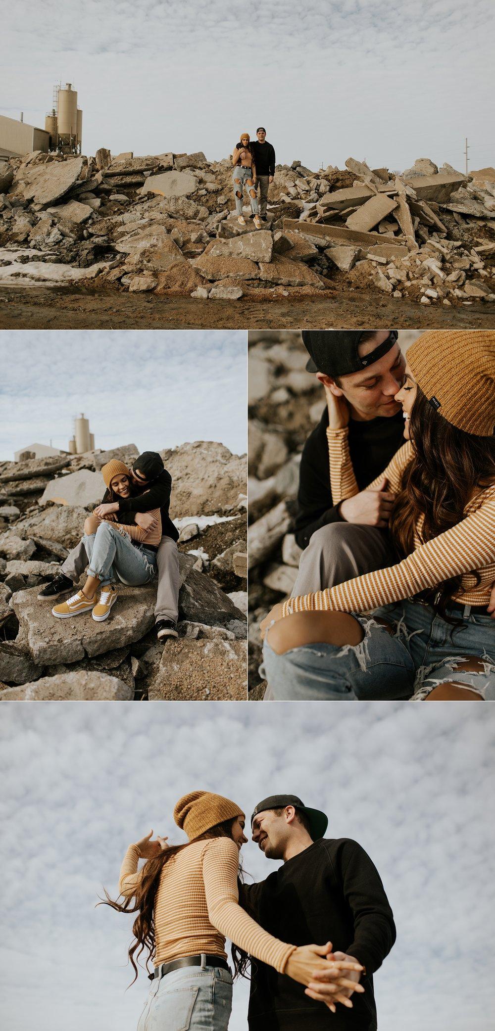 Hipster Street Style Winter Engagement Session  - Nebraska Wedding Photographer_0001.jpg