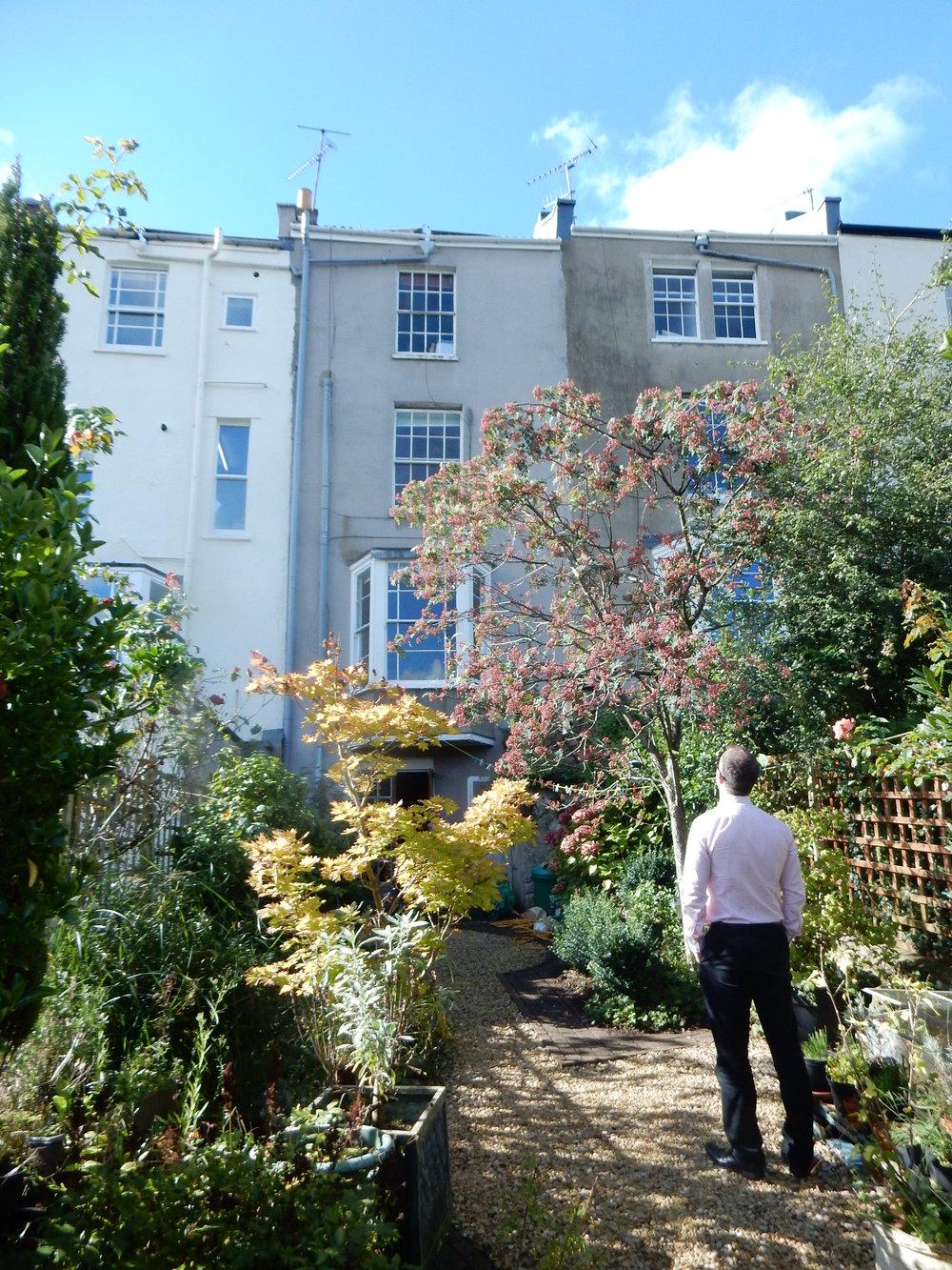 Rear garden elevation