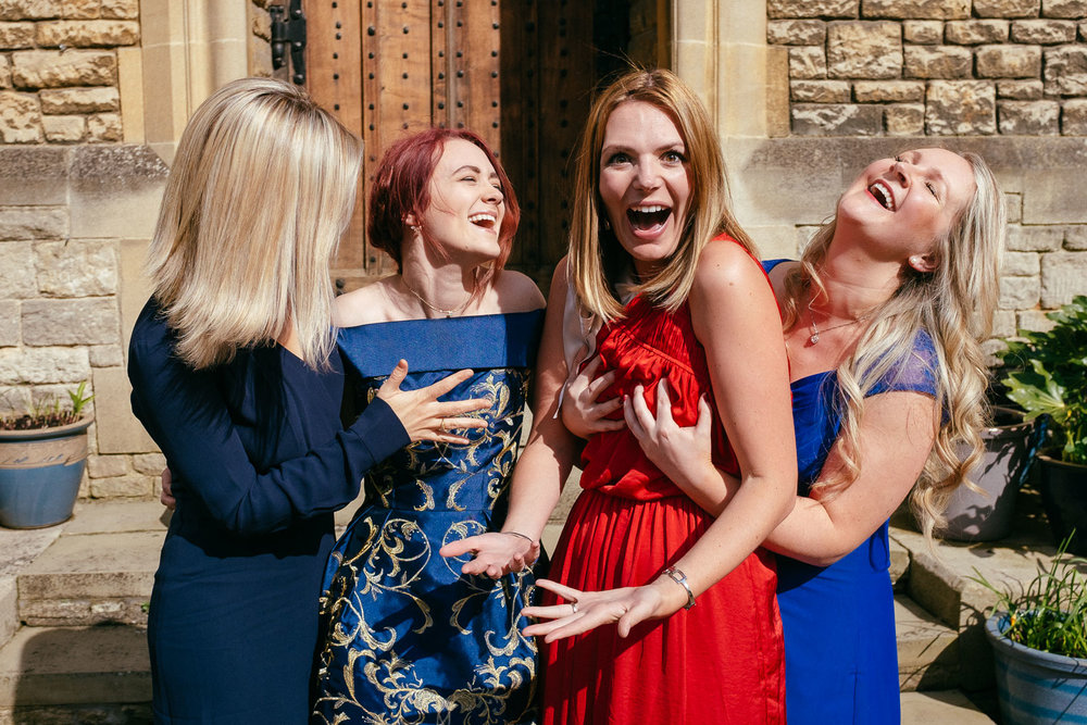 Josh Tomalin Wedding Photographer boob grabbing friends