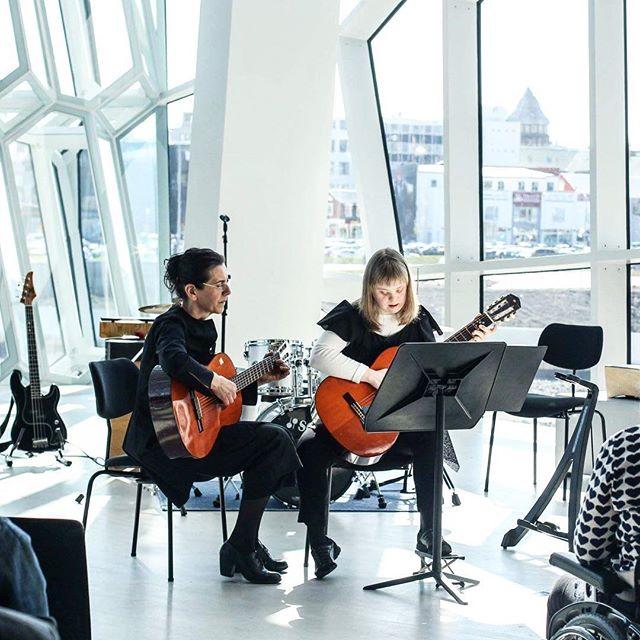 Halldóra performing at Harpa #throwbackthursday #harpa #concert #tónstofavalgerðar #music #musictherapy #internationalwomensday #equality #livemusic #iceland #reykjavik #musicschool #inspiring #harpaconcerthall
