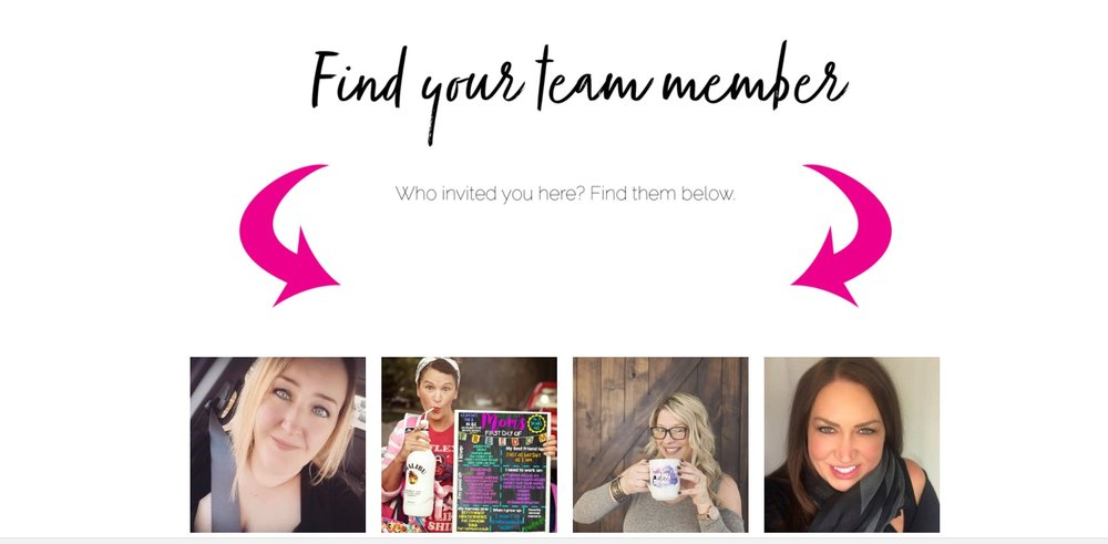 Your pic will be on the team page like above. There is a search feature as well if for some reason they cannot find you.  You will need a pic that can be cropped into a square so that it fits with the rest.    All your friends have to do is click on your pic and they will access your personal page.