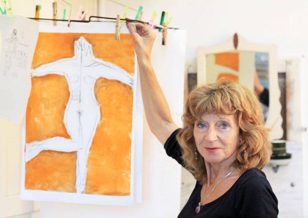 Anita in her studio.