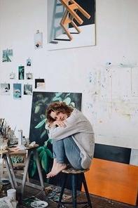 Kyra Sacks in her studio.